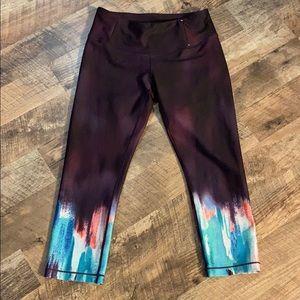 Calia by Carrie burgundy watercolor leggings